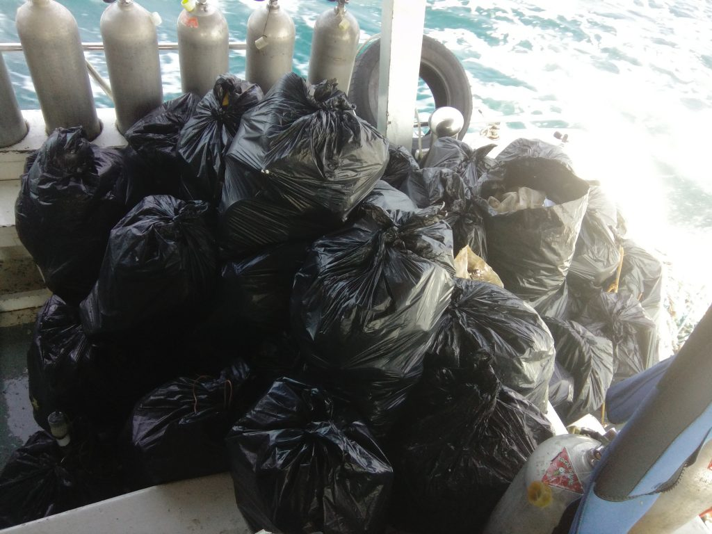 collected rubbish from a surface cleanup 6x more plastic in the water than plankton