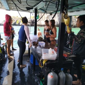 Coral propagation on board PDC1