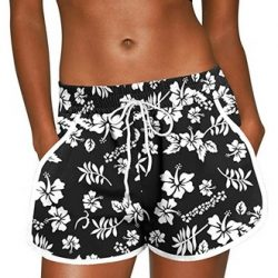 Women Summer Floral Beach Boardshorts